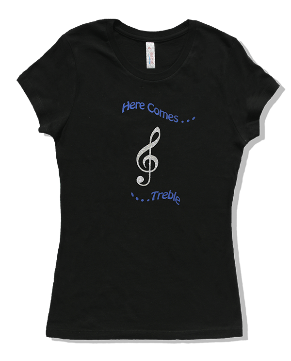 T Shirts for Musicians:  Here Comes Treble