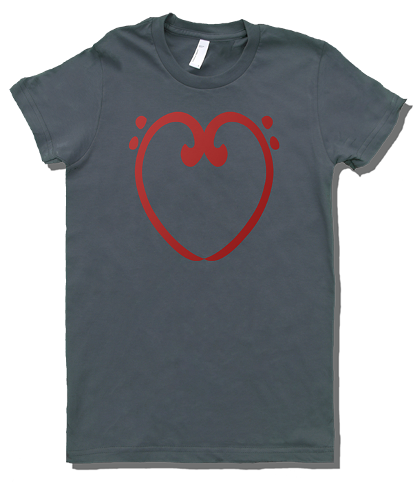 T Shirts for Musicians: Bass Clef Heart