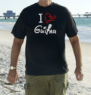 T Shirts for Musicians: I Love Guitar