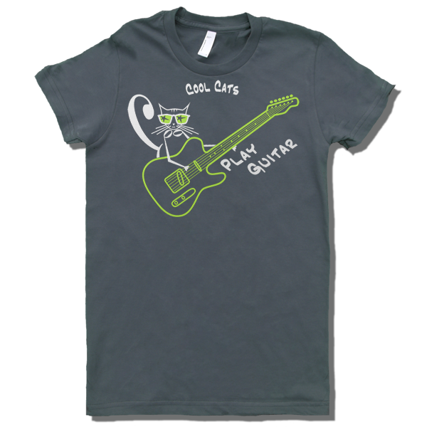 Cool Cats play guitar T - shirt