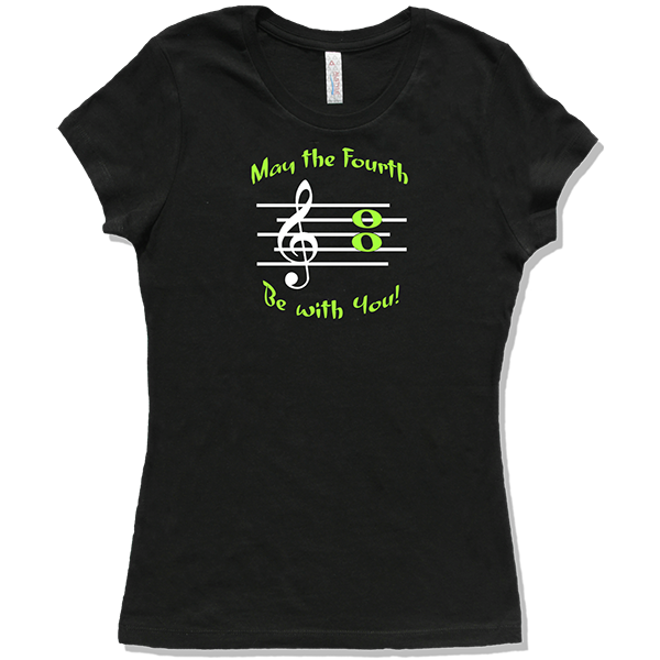 May The 4th Be With You Merchandise: Music T-shirts About Music For Musicians