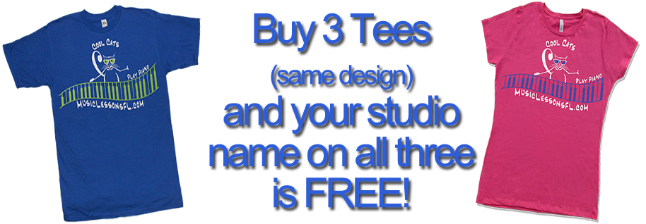Free text line with three shirts