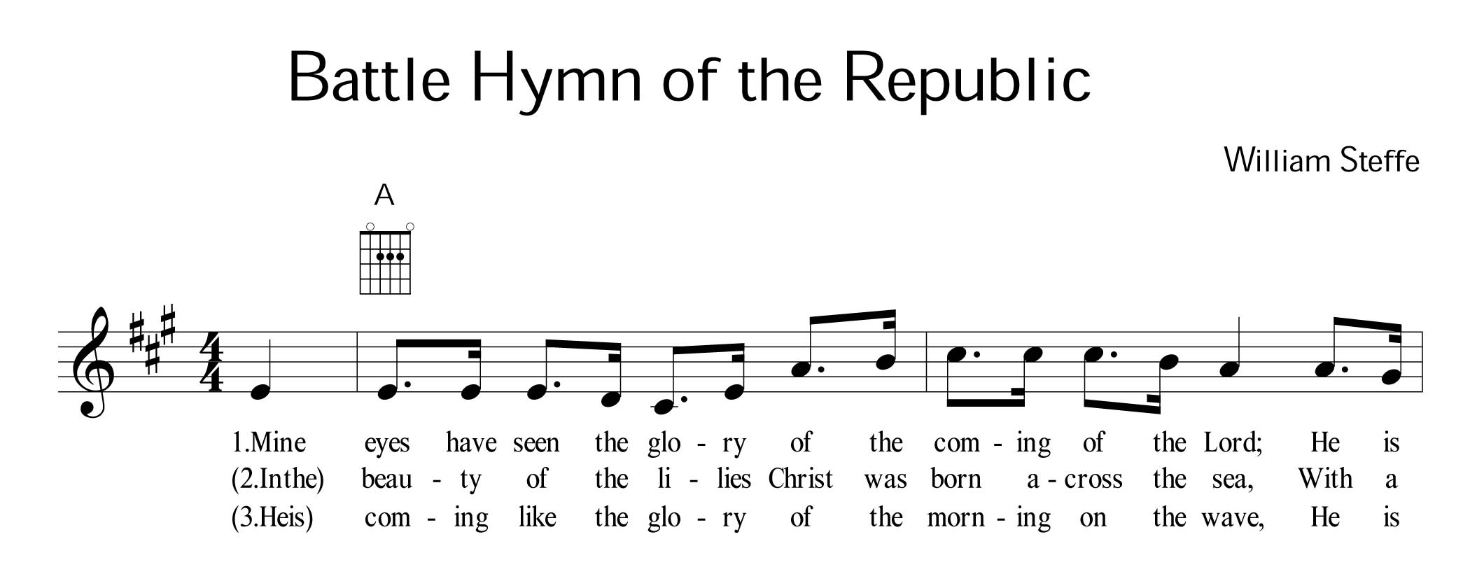 http://en.wikipedia.org/wiki/The Battle Hymn of the Republic