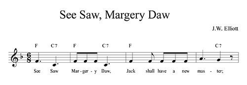 See Saw, Margery Daw