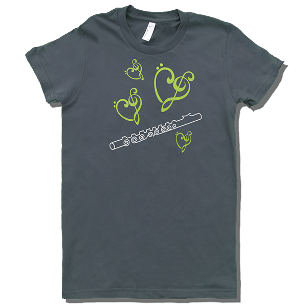 T Shirts for Musicians: I Love Flute