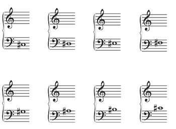 Grand Staff Music Flash Cards: Sharps page 2