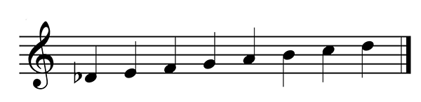 Construct Db Major scale