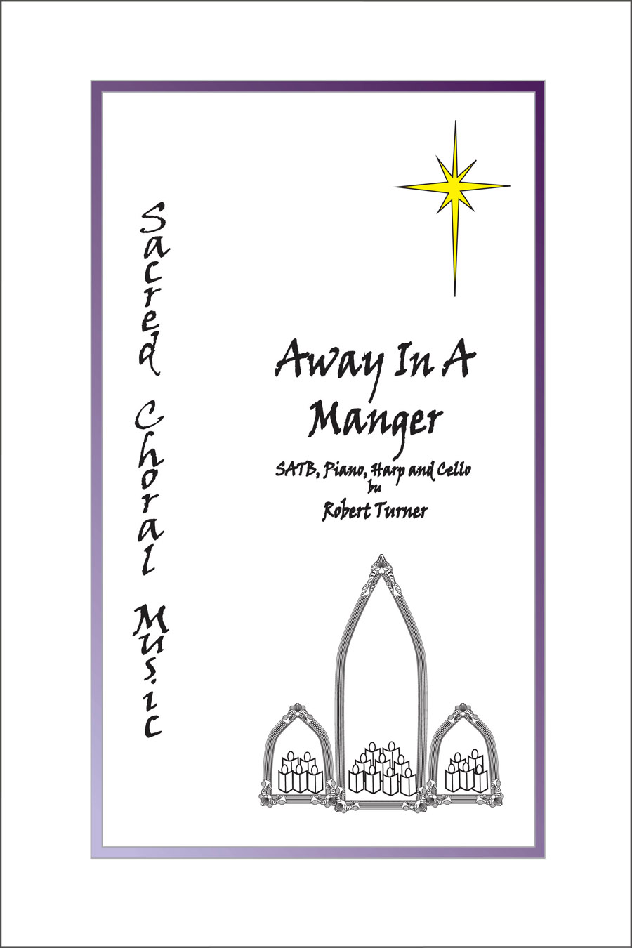 Away in A Manger for Choir, piano, harp and cello