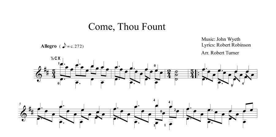 Come Thou Fount  Page 1