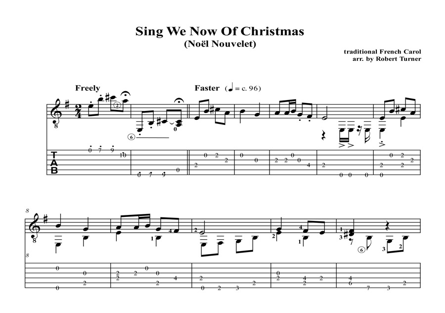 Sing We Now Of Christmas : Guitar solo