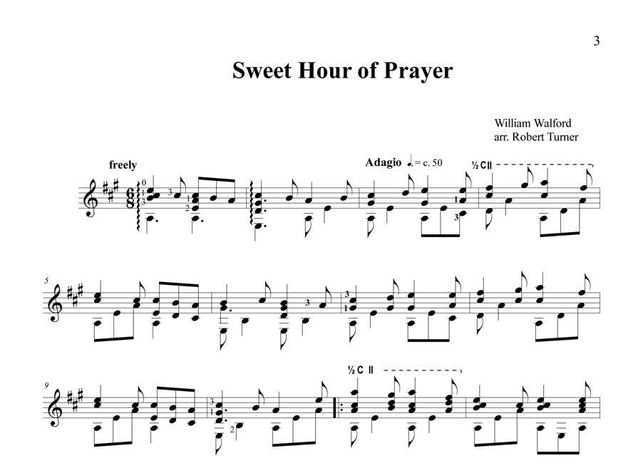 Sweet hour Notation