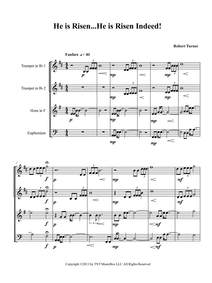 Conductor's score page 1