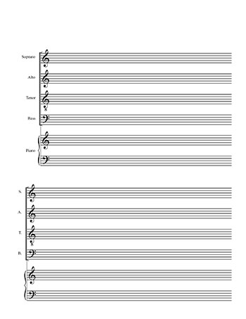 SATB Choir And Piano Template