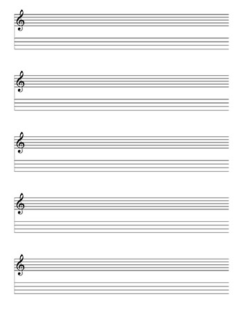 Mandolin notation and Tablature template page 2