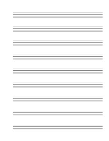 Mandolin Tablature template page 2