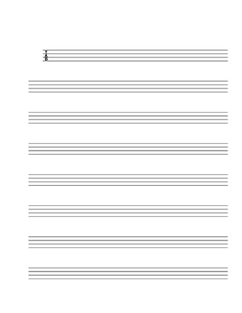 Blank Sheet Music Tablature For Bass