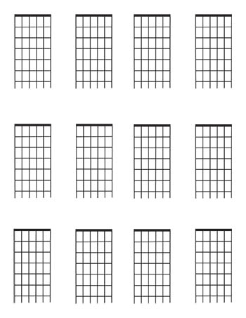 picture regarding Guitar Fretboard Diagram Printable named Guitar Fretboard diagrams 6 Frets