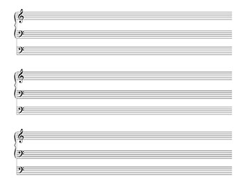 three stave organ blank sheet music template page 2