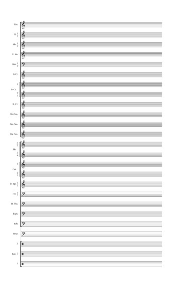 Blank Sheet Music: Wind Ensembletemplate  page 2