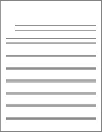 Lead sheet blank template title page