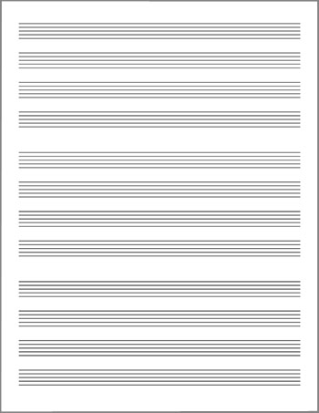blank lead sheet template page 2 staves grouped by fours