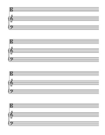 Blank Sheet Music: Piano and Alto Clef template page 2
