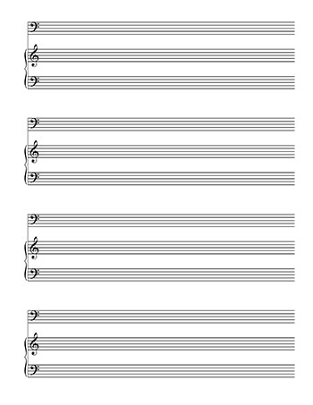 Blank Sheet Music: Piano and Bass Clef template page 2