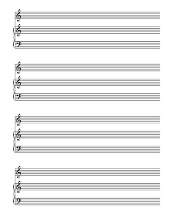 Blank Sheet Music: Piano and Treble Clef template page 2