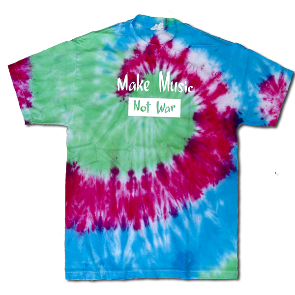 Make Music Not War Mens tie dye medium