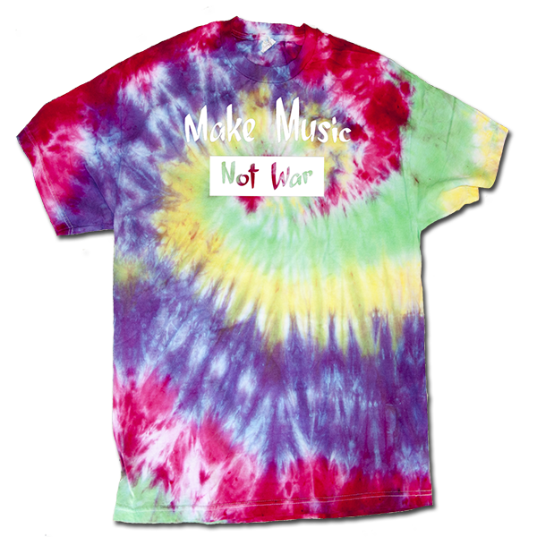 Make Music Not War Mens tie dye XL