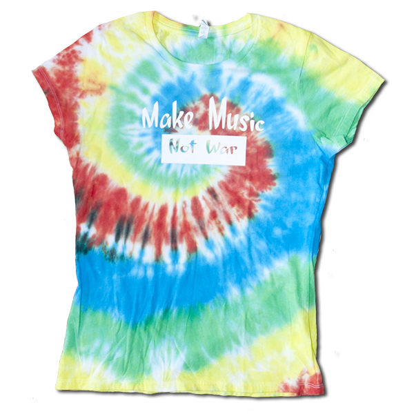 Make Music ladies tie dye XL